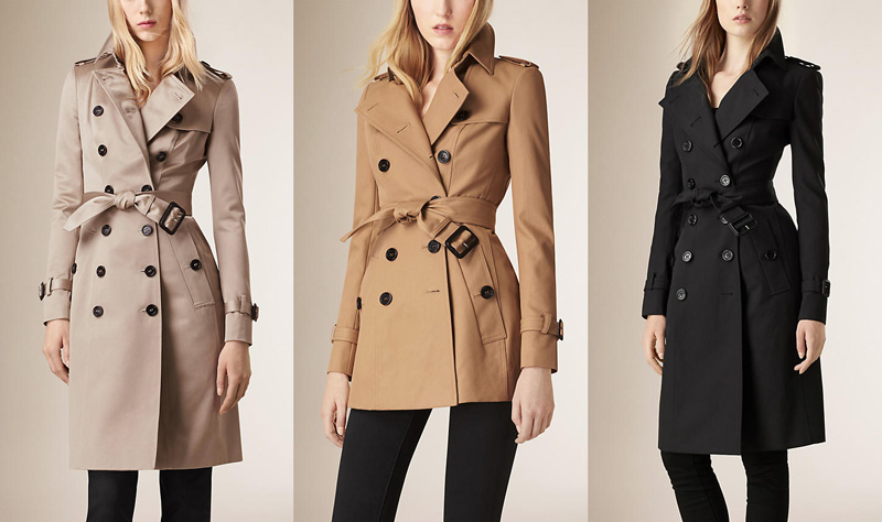 trench burberry donna autunno inverno 2016-2016